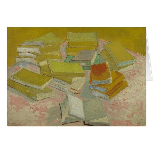 Vincent van Gogh - pilas de novelas francesas Tarjeta De Felicitación
