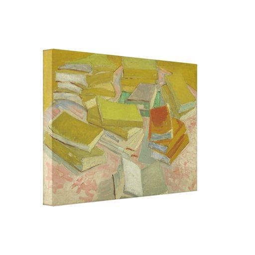 Vincent van Gogh - Piles of French novels Canvas Print