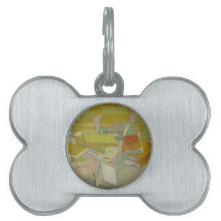 Vincent van Gogh - Piles of French novels Pet ID Tag