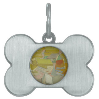 Vincent van Gogh - Piles of French novels Pet ID Tags