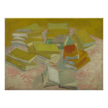 Vincent van Gogh - Piles of French novels Poster