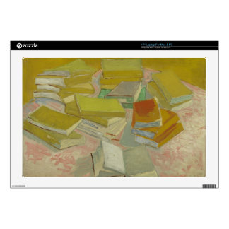 """Vincent van Gogh - Piles of French novels Decals For 17"""" Laptops"""