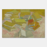 Vincent van Gogh - Piles of French novels Lawn Sign
