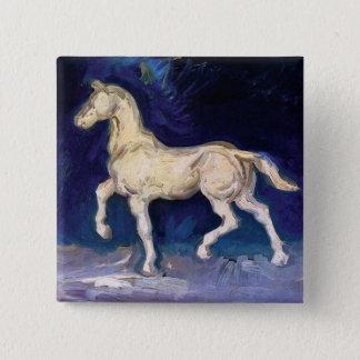 Vincent Van Gogh - Plaster Statuette Of A Horse Pinback Button