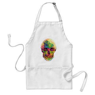 Vincent Van Gogh - Pop Art Halloween Skull Adult Apron