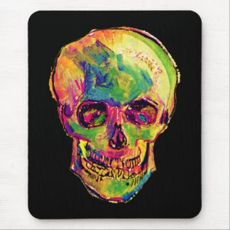 Vincent Van Gogh - Pop Art Halloween Skull Mouse Pad