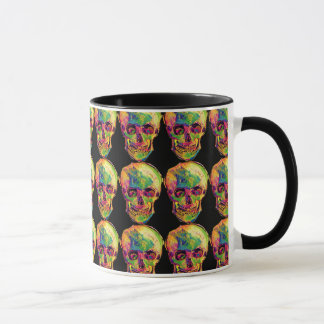 Vincent Van Gogh - Pop Art Halloween Skull Mug