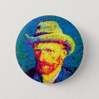 Vincent Van Gogh - Pop Art Self Portrait With Hat Button