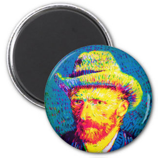 Vincent Van Gogh - Pop Art Self Portrait With Hat Magnet