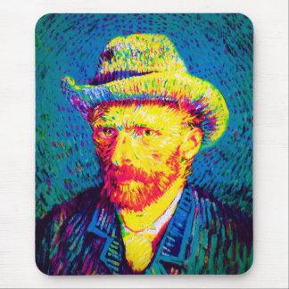 Vincent Van Gogh - Pop Art Self Portrait With Hat Mouse Pad