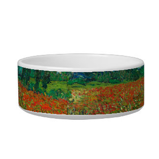 Vincent Van Gogh Poppy Field Floral Vintage Art Bowl