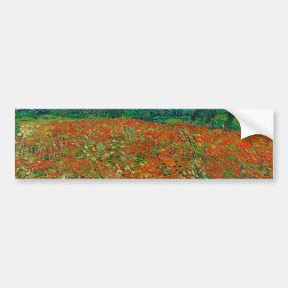 Vincent Van Gogh Poppy Field Floral Vintage Art Bumper Sticker
