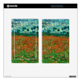 Vincent Van Gogh Poppy Field Floral Vintage Art Decals For Kindle Fire