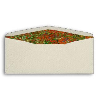 Vincent Van Gogh Poppy Field Floral Vintage Art Envelope