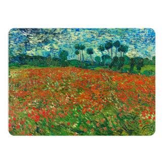 Vincent Van Gogh Poppy Field Floral Vintage Art 5.5x7.5 Paper Invitation Card