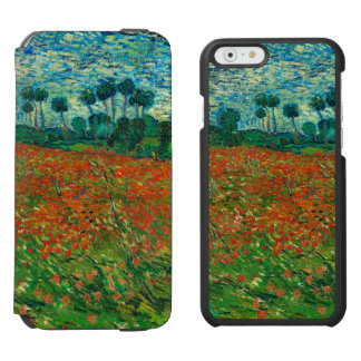 Vincent Van Gogh Poppy Field Floral Vintage Art iPhone 6/6s Wallet Case