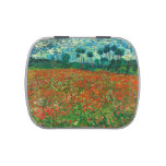 Vincent Van Gogh Poppy Field Floral Vintage Art Jelly Belly Candy Tins