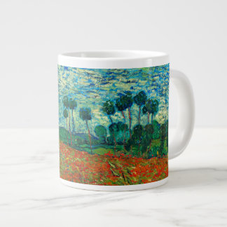 Vincent Van Gogh Poppy Field Floral Vintage Art Large Coffee Mug