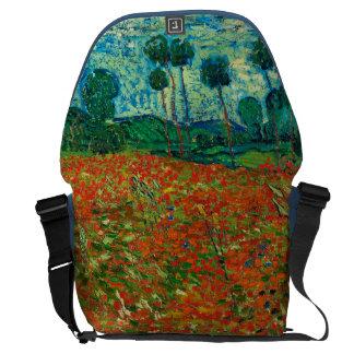 Vincent Van Gogh Poppy Field Floral Vintage Art Courier Bag
