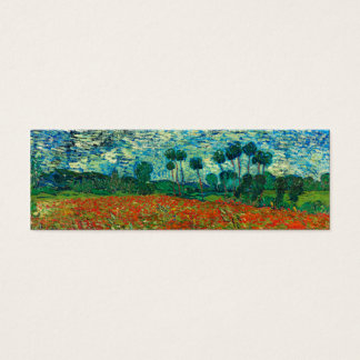 Vincent Van Gogh Poppy Field Floral Vintage Art Mini Business Card