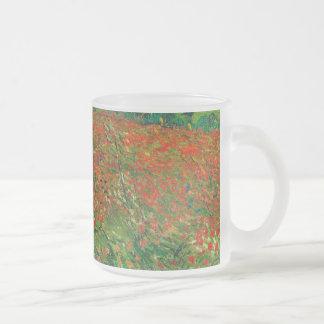 Vincent Van Gogh Poppy Field Floral Vintage Art 10 Oz Frosted Glass Coffee Mug