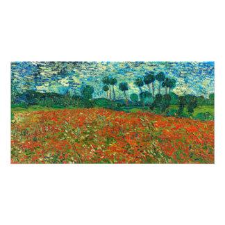 Vincent Van Gogh Poppy Field Floral Vintage Art Photo Card