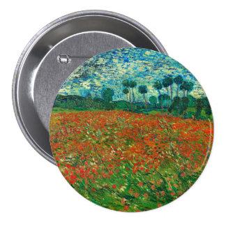 Vincent Van Gogh Poppy Field Floral Vintage Art Pinback Button