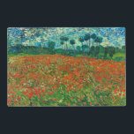 "Vincent Van Gogh Poppy Field Floral Vintage Art Placemat<br><div class=""desc"">Vincent Van Gogh Poppy Field Floral Vintage Fine Art Vincent Willem van Gogh was a Post-Impressionist painter whose work had a far-reaching influence on 20th-century art. His output includes portraits, self portraits, landscapes and still lifes of cypresses, trees in bloom, wheat fields and sunflowers. Between the years 1886 and 1890,...</div>"