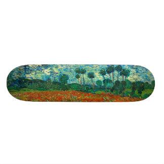Vincent Van Gogh Poppy Field Floral Vintage Art Skateboard Deck