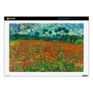 Vincent Van Gogh Poppy Field Floral Vintage Art Laptop Decals