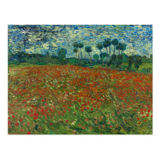 Vincent van Gogh - Poppy Field Postcard