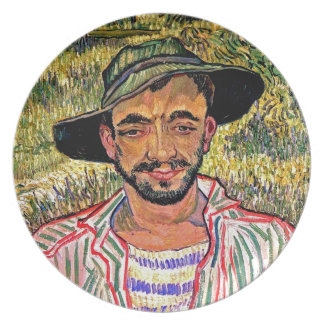 Vincent Van Gogh - Portrait Of A Young Peasant Dinner Plate