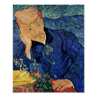 Vincent Van Gogh - Portrait Of Doctor Gachet Poster