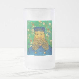 Vincent van Gogh - Portrait of Joseph Roulin Frosted Glass Beer Mug