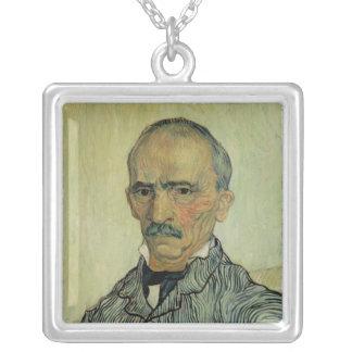 Vincent van Gogh | Portrait of Superintendant Square Pendant Necklace