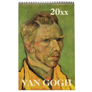 Vincent van Gogh Post Impressionism Vintage Art Calendar