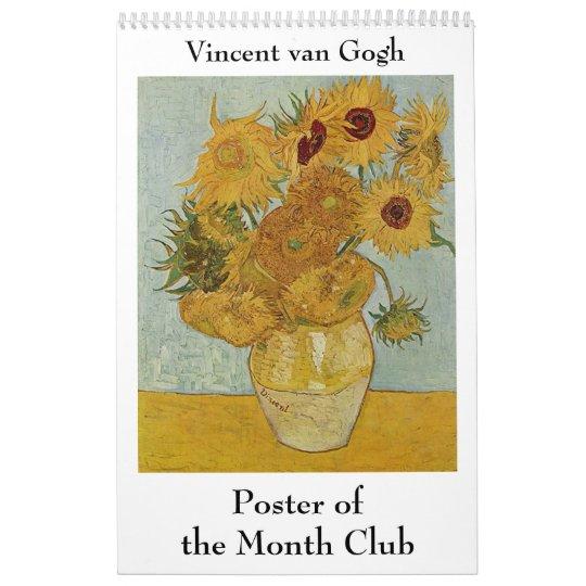 Vincent van Gogh Poster of the Month Club Calendar