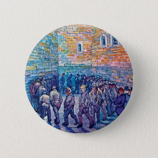 Vincent Van Gogh - Prisoners Walking The Round Pinback Button