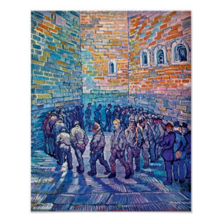 Vincent Van Gogh - Prisoners Walking The Round Poster