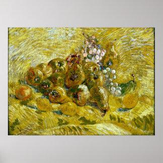 Vincent van Gogh Quinces, Lemons, Pears and Grapes Poster