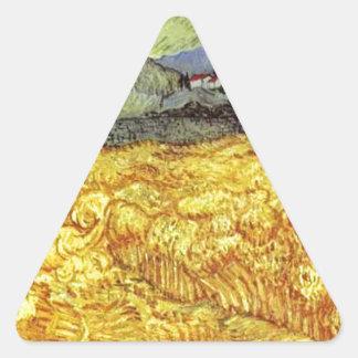 Vincent Van Gogh Reaper Triangle Sticker