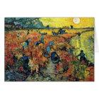 Vincent Van Gogh - Red Vineyard At Arles Painting Card