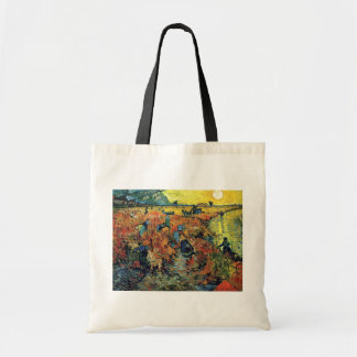 Vincent Van Gogh - Red Vineyard At Arles Painting Tote Bag