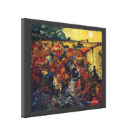 Vincent van Gogh, Red Vineyard Stretched Canvas Print
