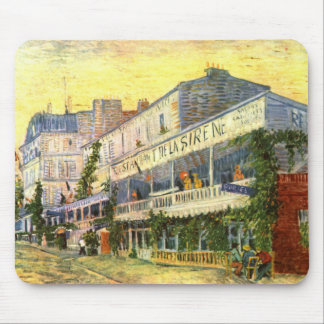 Vincent Van Gogh Restaurant de La Sirene Mouse Pad
