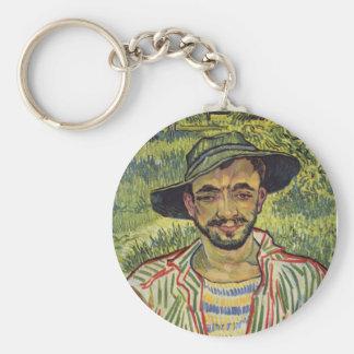Vincent van Gogh - retrato de un campesino joven Llavero