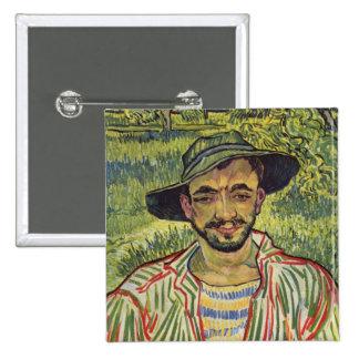 Vincent van Gogh - retrato de un campesino joven Pin