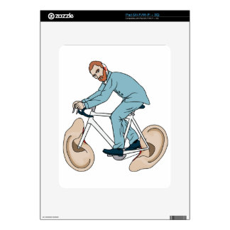 Vincent Van Gogh Riding Bike With Severed Left Ear Skins For iPad