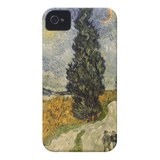 Vincent van Gogh | Road with Cypresses, 1890 iPhone 4 Case-Mate Case