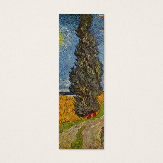 Vincent van Gogh - Road with Cypresses Mini Business Card